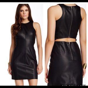 BB Dakota Sheath faux leather Black Dress Size 4